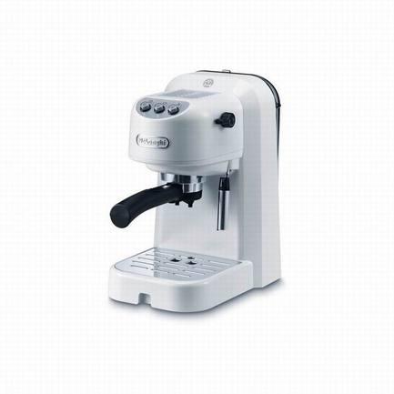 Кофеварка рожковая, белая