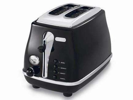 Тостер на 2 хлебца Icona, черныйТостеры<br><br><br>Серия: Icona