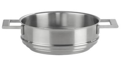 Вставной элемент для пароварки, 20 смПароварки<br>Пароварка Cristel - это специальная вставка из нержавеющей стали 18/10. Она ставится на кастрюлю подходящего диаметра, накрывается сверху крышкой, и вы легко сможете приготовить на пару любое блюдо. Пароварка очень практична и функциональна. Боковые ручки посуды литые, крепкие.<br><br>Серия: Strate Fixe