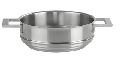Вставной элемент для пароварки, 24 смПароварки<br>Пароварка Cristel - это специальная вставка из нержавеющей стали 18/10. Она ставится на кастрюлю подходящего диаметра, накрывается сверху крышкой, и вы легко сможете приготовить на пару любое блюдо. Пароварка очень практична и функциональна. Боковые ручки посуды литые, крепкие.<br><br>Серия: Strate Fixe