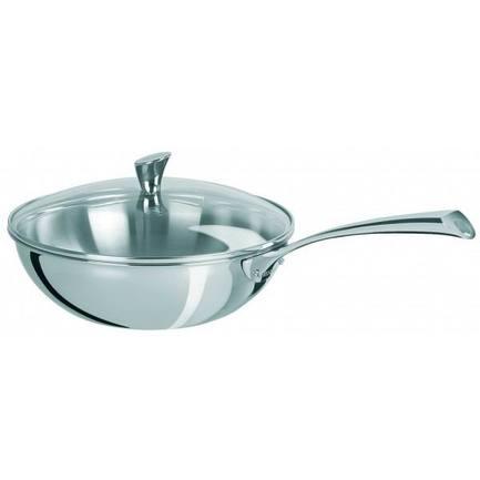 Вок Триламин с выпуклой стеклянной крышкой, 28 см (3.9 л)Воки (Азиатские сковороды)<br><br><br>Серия: Casteline fixes