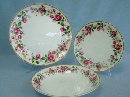 Набор тарелок Роза чайная на 6 персон, 18 пр.