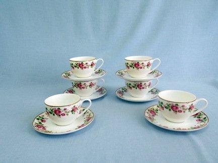 Набор чашек Роза чайная на 6 персон, 12 пр.Распродажа<br><br><br>Серия: Роза чайная<br>Состав: Чашка (0.3 л) - 6 шт., Блюдце - 6 шт.