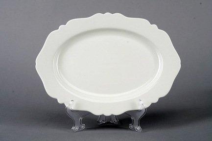 Овальное блюдо Гармония, 30.5х20 см, белое