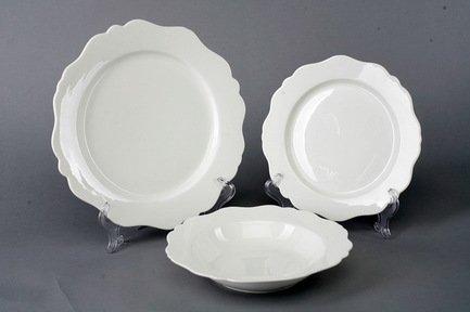 Набор тарелок Гармония на 6 персон, 18 пр., белые