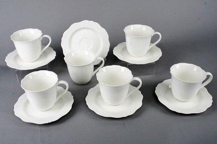 Набор чашек Гармония на 6 персон, 12 пр., белые