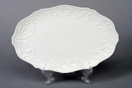 Овальное блюдо Камея, 30.5х20 см, белое