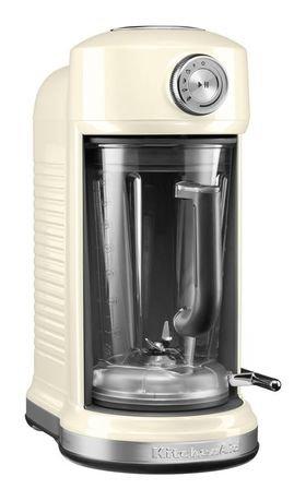 Блендер с электромагнитным приводом Artisan (1.75 л), кремовыйБлендеры<br>Блендер Artisan предлагает 4 режима работы и позволяет готовить соки, соусы, супы, молочные коктейли, смузи. Он оснащен функцией мягкого пуска и импульсным режимом. Скорость при необходимости можно контролировать вручну. Нужно только подобрать подходящую программу, вставить кувшин и нажать на кнопку. Блендер выполнит все необходимое, чтобы результат был превосходный.  Кувшин, изготовленный из качественного пластика без примесей БФА, оснащен удобной ручкой с мягким покрытием. Он плотно закрывается пластиковой крышкой и легко вставляется в основание блендера. Кувшин можно мыть в посудомоечной машине. Кувшин комплектуется специальной загрузочной воронкой, в которой есть встроенный мерный стаканчик. Зачастую во время смешивания нужно добавлять многие ингредиенты, а для этого нужна удобная и безопасная воронка. С этим пластиковым аксессуаром вы сможете добавлять нужный объем ингредиентов и контролировать консистенцию смеси. Мерный стаканчик легко моется вручную и в посудомоечной машине.  Кувшин оснащен отличной технологией смешивания Diamond и сам имеет форму бриллианта. Сменные лезвия изготовлены из качественной нержавеющей стали.     Характеристики:   Мощность: 1300 Вт  Режимы работы: 4 программы, ручное управление, импульсный режим  Скорость: 700-20 000 оборотов в минуту  Материал корпуса: литой алюминий  Емкость кувшина: 1.75 л  Размеры: 41 19 33 см  Вес нетто: 10 кг<br><br>Серия: Блендер с электромагнитным приводом Artisan<br>Состав: Кувшин (1.75 л) с крышкой, Загрузочная воронка с мерным стаканчиком