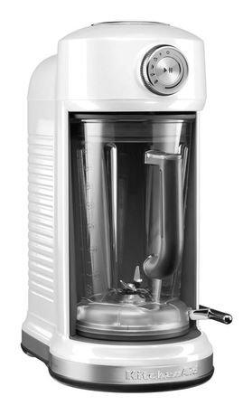 Блендер с электромагнитным приводом Artisan (1.75 л), морозный жемчугБлендеры<br>Блендер Artisan предлагает 4 режима работы и позволяет готовить соки, соусы, супы, молочные коктейли, смузи. Он оснащен функцией мягкого пуска и импульсным режимом. Скорость при необходимости можно контролировать вручну. Нужно только подобрать подходящую программу, вставить кувшин и нажать на кнопку. Блендер выполнит все необходимое, чтобы результат был превосходный.  Кувшин, изготовленный из качественного пластика без примесей БФА, оснащен удобной ручкой с мягким покрытием. Он плотно закрывается пластиковой крышкой и легко вставляется в основание блендера. Кувшин можно мыть в посудомоечной машине. Кувшин комплектуется специальной загрузочной воронкой, в которой есть встроенный мерный стаканчик. Зачастую во время смешивания нужно добавлять многие ингредиенты, а для этого нужна удобная и безопасная воронка. С этим пластиковым аксессуаром вы сможете добавлять нужный объем ингредиентов и контролировать консистенцию смеси. Мерный стаканчик легко моется вручную и в посудомоечной машине.  Кувшин оснащен отличной технологией смешивания Diamond и сам имеет форму бриллианта. Сменные лезвия изготовлены из качественной нержавеющей стали.     Характеристики:   Мощность: 1300 Вт  Режимы работы: 4 программы, ручное управление, импульсный режим  Скорость: 700-20 000 оборотов в минуту  Материал корпуса: литой алюминий  Емкость кувшина: 1.75 л  Размеры: 41 19 33 см  Вес нетто: 10 кг<br><br>Серия: Блендер с электромагнитным приводом Artisan<br>Состав: Кувшин (1.75 л) с крышкой, Загрузочная воронка с мерным стаканчиком