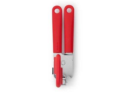 Открывалка для консервов, 17х5х6 см, пластик/нержавеющая сталь, красныйБар и стекло<br>Эта красивая и удобная открывалка справляется с крышками любых стандартных дизайнов. Невероятно удобна и проста в использовании, легко моется и чистится. Имеет петлю для комфортного хранения в вертикальном положении.<br><br>Серия: Tasty colours