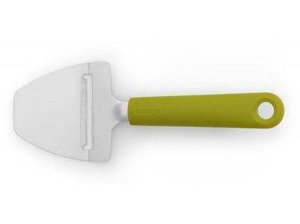 Нож для сыра, 18х7.5х2 см, зеленыйКухонные ножи<br>Этот нож - настоящий профессиональный инструмент. С помощью него вы аккуратно порежете как твердые, так и мягкие сыры. Нож изготовлен из качественной нержавеющей стали и имеет удобную эргономичную рукоятку.<br><br>Серия: Tasty colours