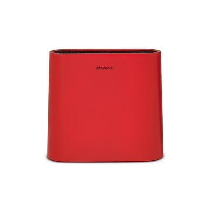 Подставка для ножей, 23х7.5х21 см,пластик, красный