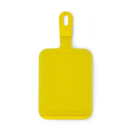 Разделочная доска малая, 36х18х1 см, пластик, желтый