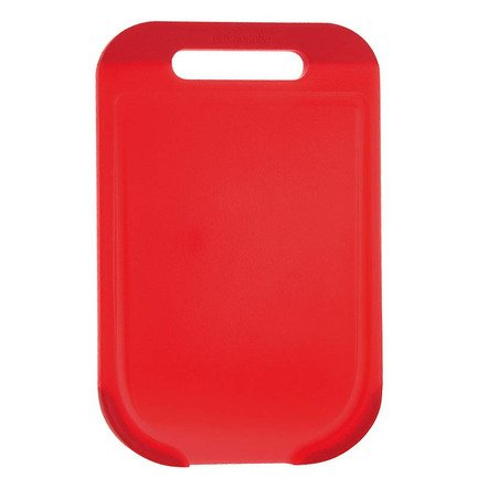Разделочная доска средняя, 33х20х1.2 см, пластик, красный