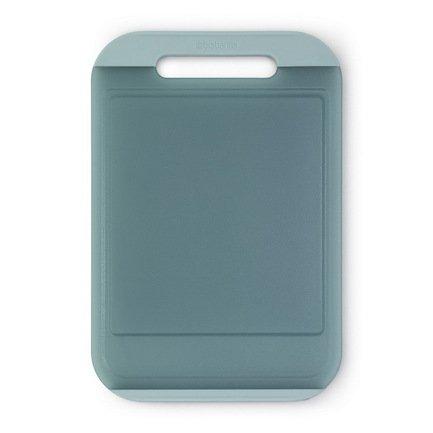 Разделочная доска большая, 37х25х1.2 см, пластик, мятныйКухонные принадлежности<br>Практичная доска для разделывания и нарезания различных продуктов из пищевого пластика идеальна для ежедневного приготовления блюд. Ее поверхность легко моется, не затупляет лезвие ножей и не впитывает запахи.<br><br>Серия: Tasty colours