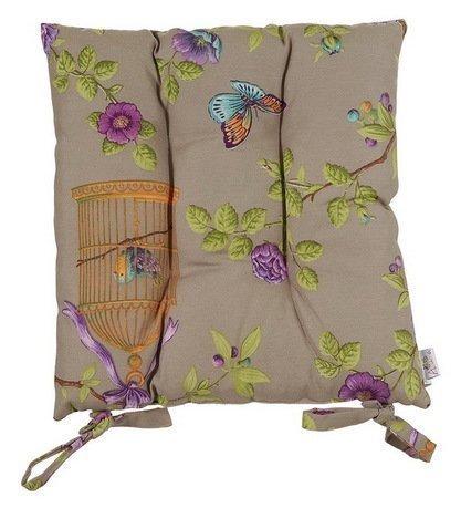 Подушка на стул Vintage style, 41х41 см, разноцветнаяПодушки на стул<br><br><br>Серия: Цветочные мотивы