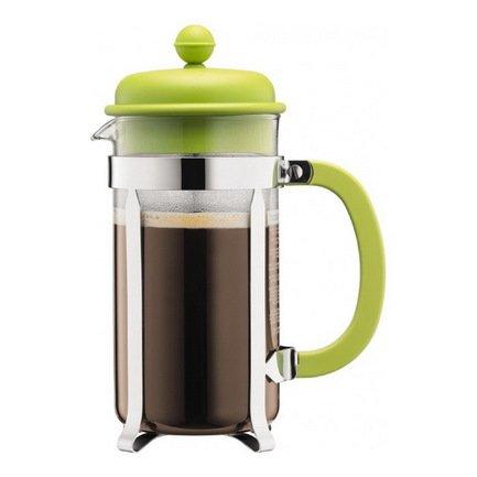 Кофейник с прессом Caffettiera (1 л), зеленый