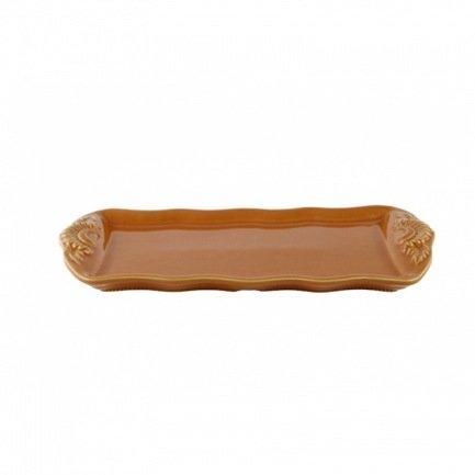 Блюдо для кекса, 35x17 см, оранжевоеПодносы и Блюда<br>Плоское блюдо прямоугольной формы предназначено для сервировки десертов. На нем вы сможете красиво подать кекс или свежеиспеченный рулет, разрезав его на порционные кусочки. Также блюдо может подойти для подачи других блюд, например, фруктов кусочками.<br><br>Серия: Provencale
