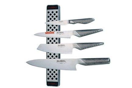 Набор ножей с магнитным держателем, 5 пр. Global G-251138\M30