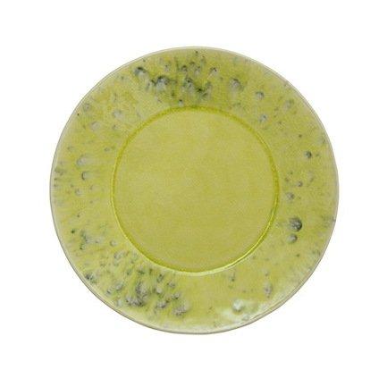 Тарелка, 21 см, зеленая