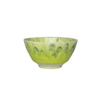 Тарелка глубокая, 14 см, зеленая
