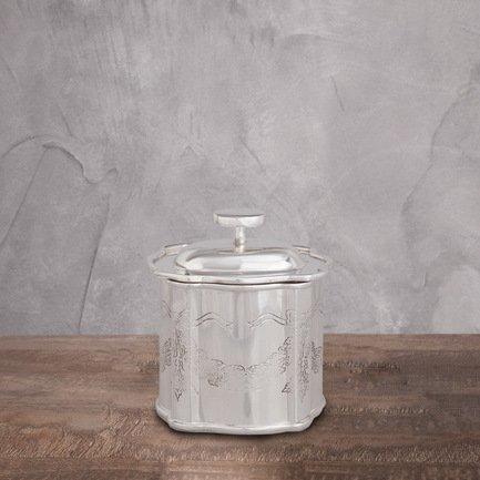 Емкость, 10x7x11 см, серебрянаяАксессуары для сервировки<br><br>