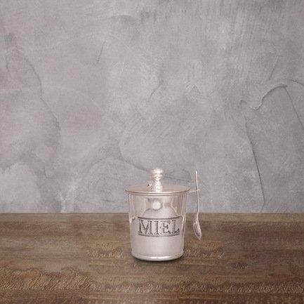 Банка для чая с ложкой, 8х12 см, серебряная