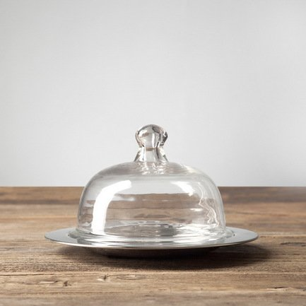 Емкость для масла, 21.5х21.5х13.5 см, прозрачная