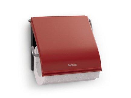 Держатель для туалетной бумаги, 12.3х13.3х1.7 см, красный