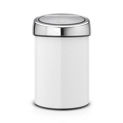 Ведро для мусора Touch Bin (3 л), белоеМусорные ведра<br><br><br>Серия: Touch Bin