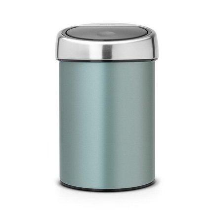 Ведро для мусора Touch Bin (3 л), мятноеМусорные ведра<br><br><br>Серия: Touch Bin