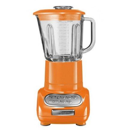 Блендер Artisan, стакан (1.5 л) стеклянный, 5 скоростей, Pulse, мандариновый KitchenAid 5KSB5553ETG