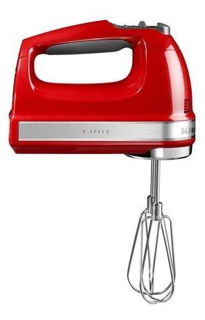 Миксер ручной, 230-1300 об/мин, 9 скоростей, красный