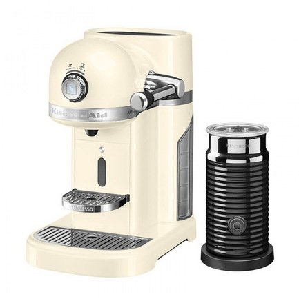 Кофемашина капсульная Artisan Nespresso и Aeroccino с баком (1.4 л), кремовая