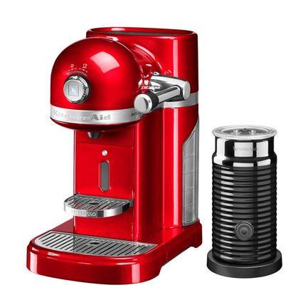 Кофемашина капсульная Artisan Nespresso и Aeroccino с баком (1.4 л), красная