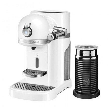Кофемашина капсульная Artisan Nespresso и Aeroccino с баком (1.4 л), морозный жемчуг