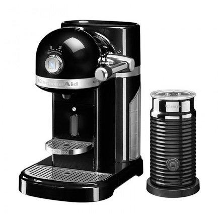 Кофемашина капсульная Artisan Nespresso и Aeroccino с баком (1.4 л), чернаяКофемашины<br><br><br>Серия: Кофемашина капсульная Artisan Nespresso и Aeroccino