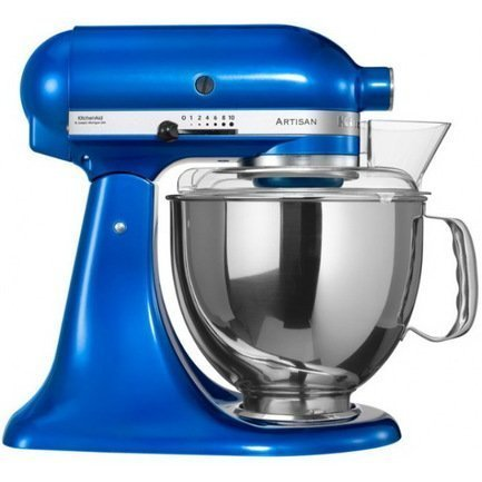 Миксер планетарный, дежа (4.83 л), 3 насадки, электрик блю KitchenAid 5KSM150PSEEB