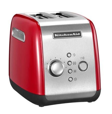 Тостер красный KMT221, загрузка 2 хлебца, красный