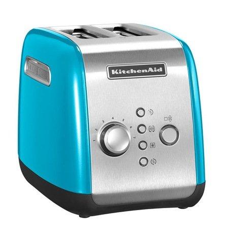 Тостер черный KMT221, загрузка 2 хлебца, голубой кристалл KitchenAid 5KMT221ECL
