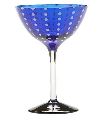 Бокал для коктейлей Перле (230 мл), синий