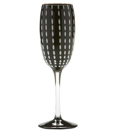 Бокал для шампанского Перле (220 мл), черный