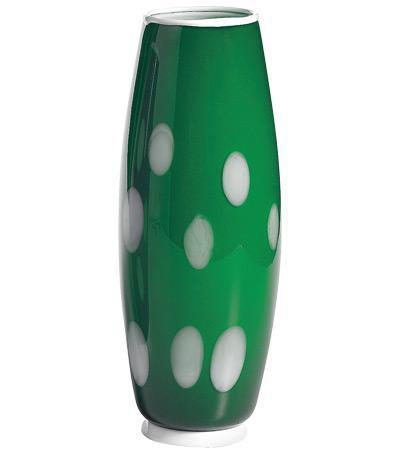 Ваза Бон Бон, 26х11 см, зелёно-белая