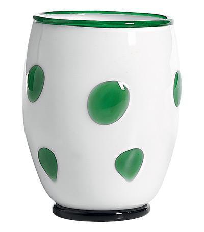 Тумблер (300 мл), белый-зелёный