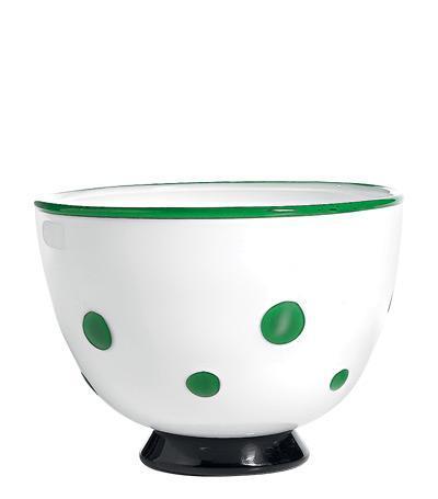 Чаша (650 мл), белая-зелёнаяСалатницы, Супницы<br><br><br>Серия: Bon Bon