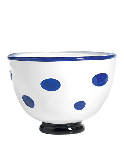Чаша (650 мл), белая-синяяСалатницы, Супницы<br><br><br>Серия: Bon Bon