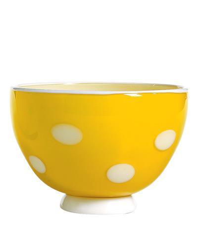 Чаша (650 мл), жёлтая-белаяСалатницы, Супницы<br><br><br>Серия: Bon Bon