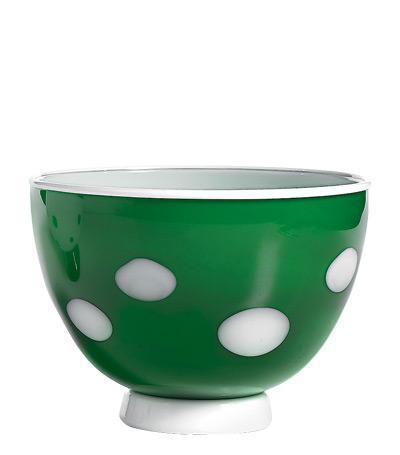 Чаша (650 мл), зелёная-белая
