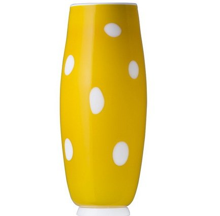 Ваза Бон Бон, 26х11 см, жёлто-белая