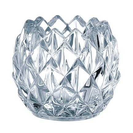Набор из 2-х подсвечников Crystal Christmas, 9 см, хрустальПодсвечники<br>Невысокие подсвечники оригинальной формы способны создать необычайно уютную атмосферу в помещении или добавить романтичности сервировке стола. Поместите в них свечу, и комната наполнится спокойным и ровным светом, огонь будет сверкать и переливаться в прозрачных стенках из хрусталя.<br>